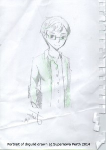 Anime version of me drawn at Supernova Perth July 2014